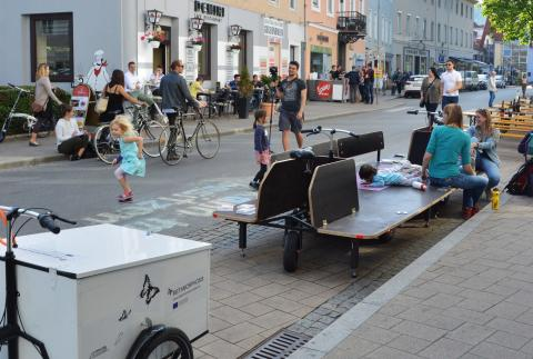 Public parking space transformer in Graz 2019